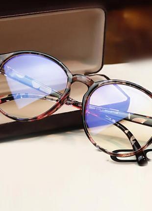 4-62 вінтажні окуляри для іміджу з прозорою лінзою очки для имиджа с прозрачной линзой