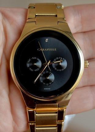 Мужские часы с бриллиантом caravelle bulova из новой коллекции