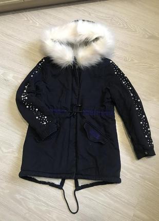 Удлиненная зимняя куртка glo-story