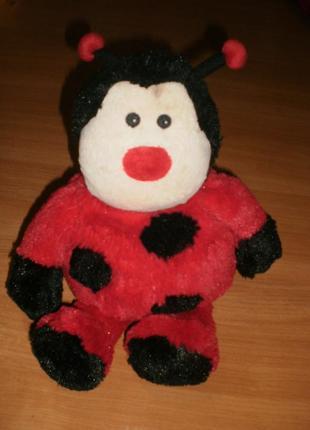 Екслюзив! мягка іграшка-подушка з вшитими гранулами з аромамаслами. божья коровка