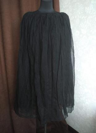 Продам юбку из фатина вышитого