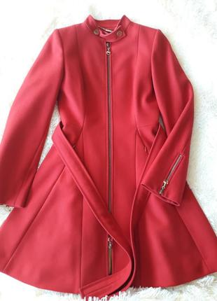 Красное пальто bella bicchi (на размер s)