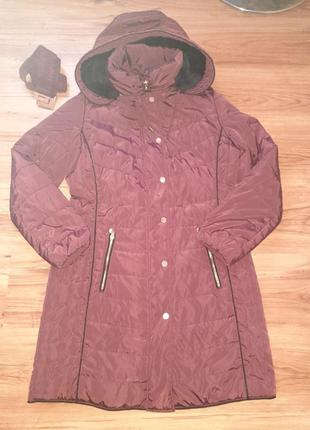 Бардовая курточка