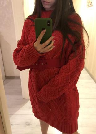 Яркое свитер-платье zara