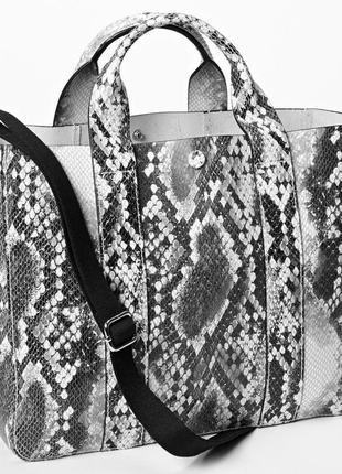 Кожаная сумка шоппер gap змеиный принт 🛍