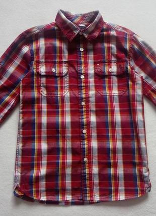 Фирменная рубашка tommy hilfiger на 8-10 лет, 100% хлопок, в отличном состоянии.