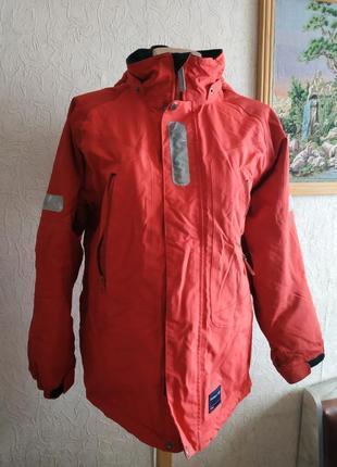 Супер куртка для непогоды, красная демикуртка.sweden