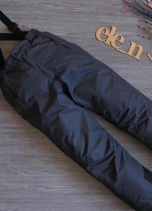 Лыжные термо штаны со съёными подтяжками crane kids 146-152