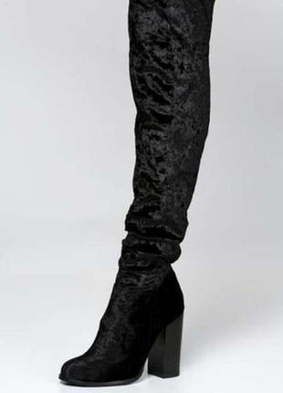 Очень красивые велюровые ботфорты, сапоги, чулки asos,zara,missguuided