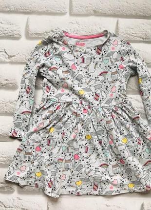 F&f  классное трикотажное платье  на девочку  3-4 года