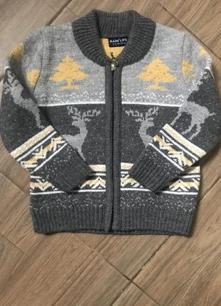 Тёплый свитер 98-104р