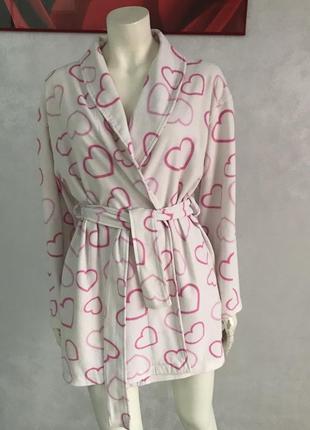Милый флисовый халат в сердечки #розвантажуюсь