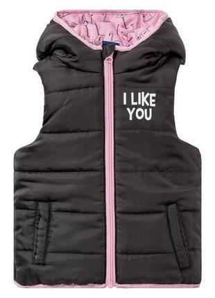 Нова лупілу  жилетка весняна тепла для дівчинки 2-3 роки 98 розмір