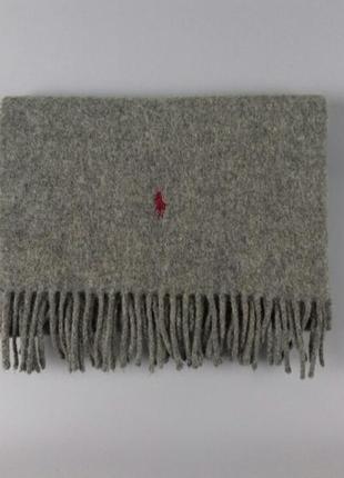 Polo by ralph lauren серый шерстяной шарф