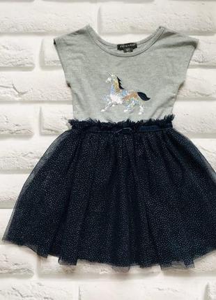 Primark стильное платье на девочку 2-3 года