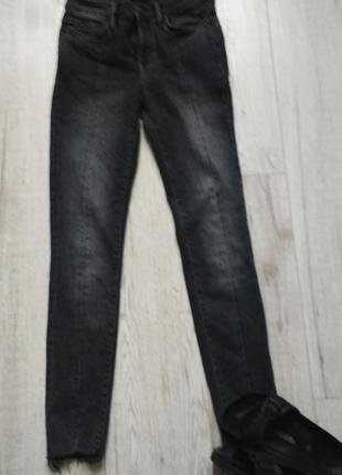 Al saints   джинсы скинни с необработанным краем