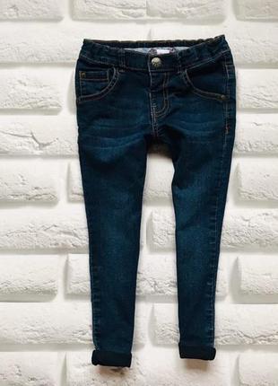 Miniclub  стильные джинсы-узкачи  на девочку 3-4 года