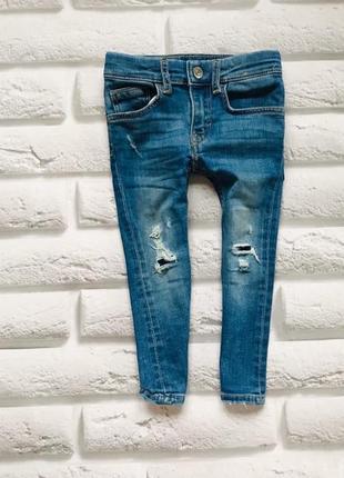 H&m стильные джинсы на девочку  1,5-2 года