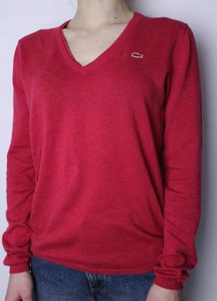 Lacoste кофта свитерок с v образным вырезом