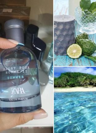 Чоловіча парфумована вода zara night pour homme summer 80 ml