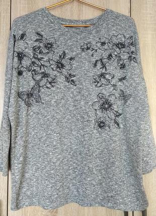 Красивая меланжевая кофточка кофта свитерок размер 52-54