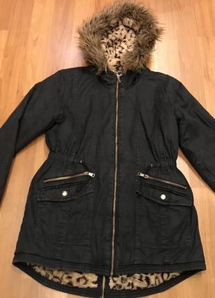 Куртка парка на девочку 10-11 лет