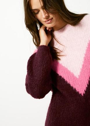 Невероятный объемный оверсайз свитер в стиле color block m&s