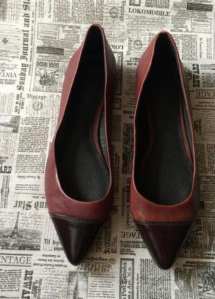 Кожаные туфли лодочки andre 36 37
