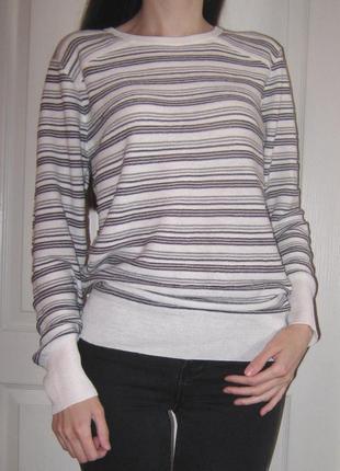 Тонкий весенний свитер / джемпер в полоску