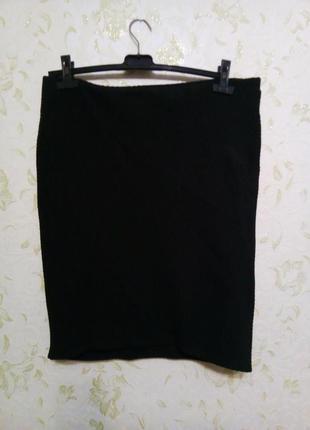 Стрейчивая ровная юбка большой размер 16-18 рр.