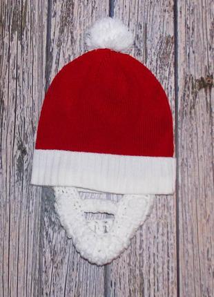 Новогодняя шапка для мальчика 4-8 лет, 52-55 см