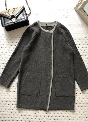 Пальто benetton 70% шерсть