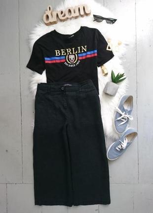 Актуальные льняные брюки кюлоты №138 marks & spencer