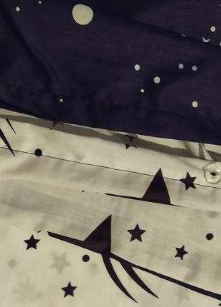 Хлопковое постельное белье космос из ткани ранфорс в подарочной упаковке3 фото