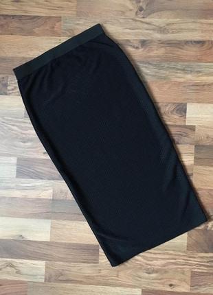 Фактурная черная юбка размер s-m