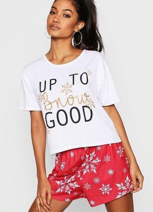 Вoohoo. женская пижама футболка и шорты размер 44-46 новая