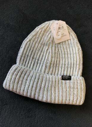 Серая шапка terranova one size (унисекс)