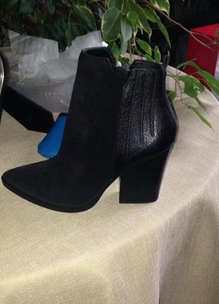 Женские кожаные весенние ботинки ботильоны сапоги казаки гес guess; 38