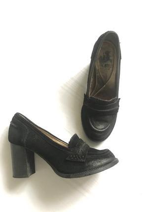 Шкіряні туфлі виворотки кожаные туфли из натуральной кожи и выворотки
