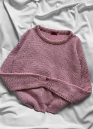 Розовый кашемировый свитер, шерстяной тёплый джемпер