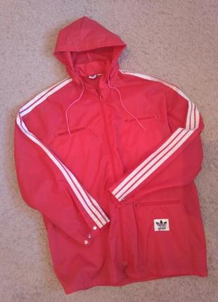 Дождевик adidas vintage адидас винтаж куртка ветровка с капюшоном