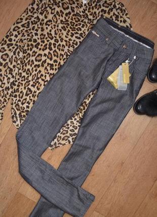 Классические брюки клеш прямые серые оригинал брендовые новые cavalli винтажные