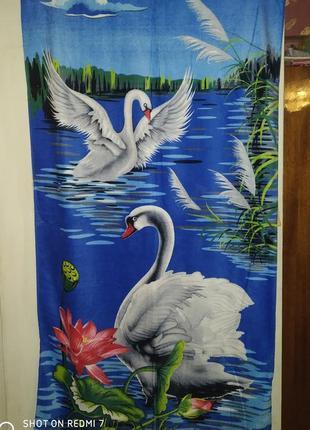 "Банное полотенце""лебеди"""