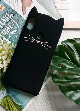 Силиконовая накладка 3d cat для samsung, xiaomi