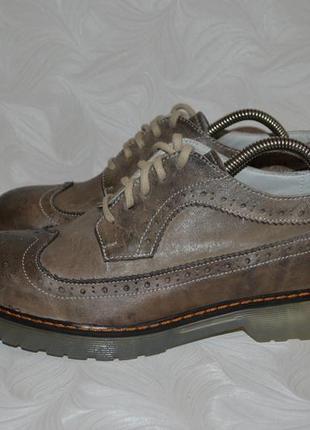 Итальянские кожаные туфли броги, р. 40