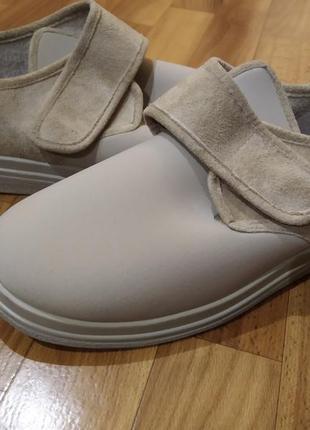 43 р. новые ортопедические диабетические туфли ботинки для широкой стопы