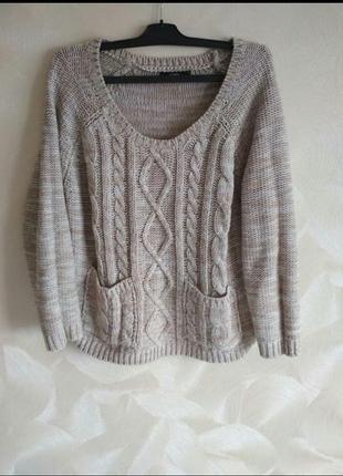 Укороченый фирменный свитер,джемпер george