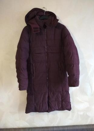 Бордовая теплая куртка пальто зимнее sportswear
