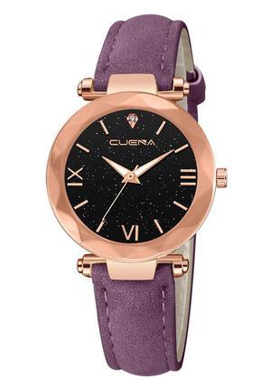 Женские наручные часы с фиолетовым ремешком код 532