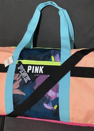 Спортивная дорожняя сумка pink victoria's secret